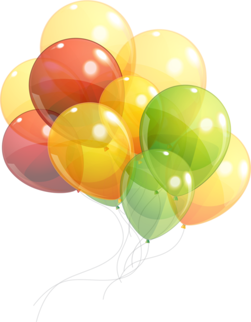 Transparent balloons png picture - Anniversaire